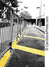 barrera, estacionamiento