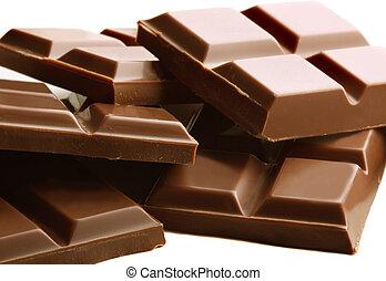 barres, chocolat