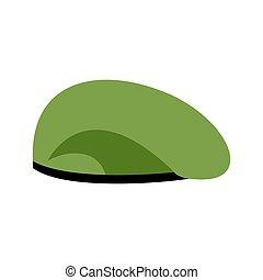 barret, green., armia, beret, cap., hat., wojsko, wojskowy, wojna