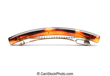 Barrette on white background