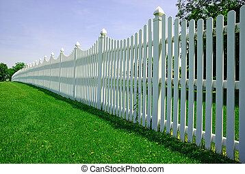 barrière blanche