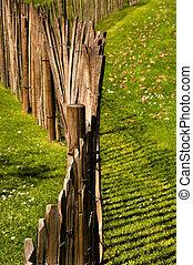 barrière bois