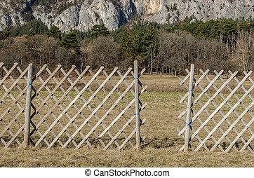 barrière, dans, nature