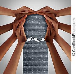 barrières, enlever, social