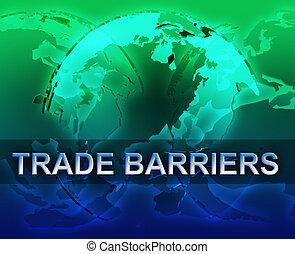 barrières, globalisation, commercer