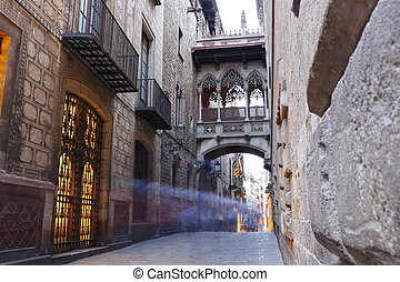 barri, バルセロナ, gotic, スペイン, 四分の一