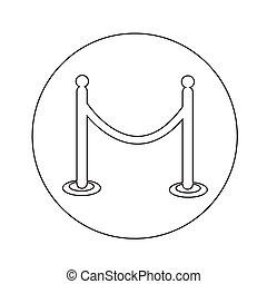 barricade icon illustration design