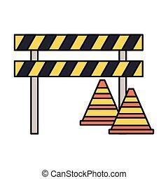 barricade repair construction traffic triangles vector...