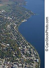 Barrie Ontario North shore, aerial