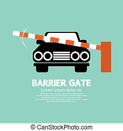 Barrier Gate Closed For Vehicle.