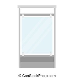 barrier glass protection isolated icon vector illustration ...