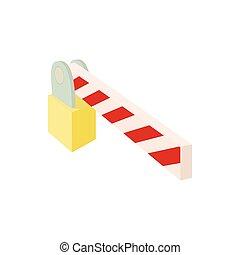 Barrier icon, cartoon style