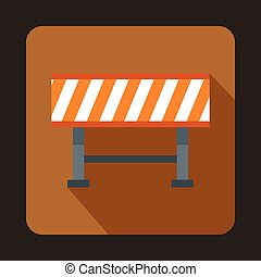 Barrier icon, flat style