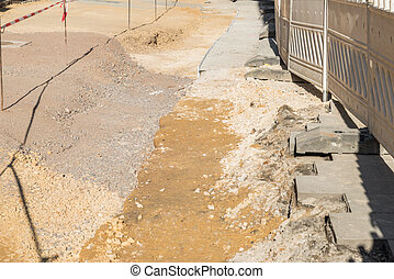 Barrier of a construction site