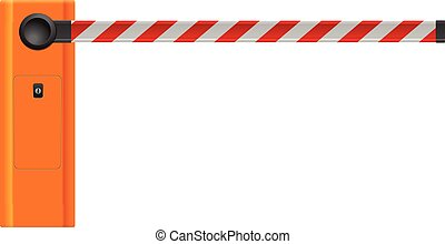 Barrier on a white background.