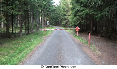 barrier on forest road