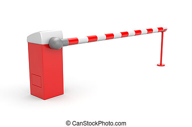 Barrier - 3d rendered object. Isolated on white