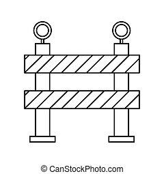 barrier restricted street stripe design outline