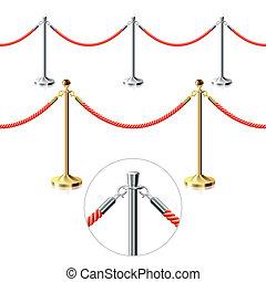 barrier., seamless, vector., corde
