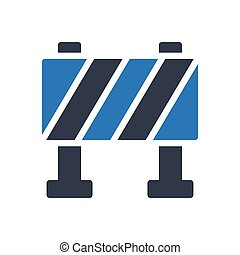 barrier thin line icon