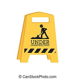barrier under construction icon vector illustration