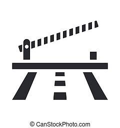 barriera, isolato, illustrazione, singolo, vettore, icona
