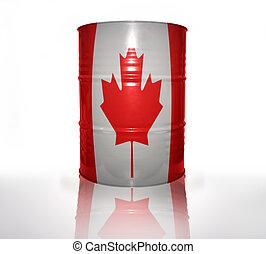 barril, bandeira, canadense