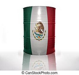 barril, bandeira mexicana
