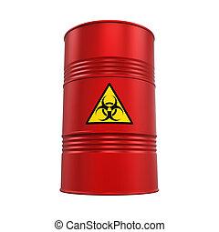 barril, biohazard, aislado