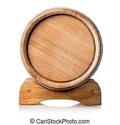 barril de madera, estante