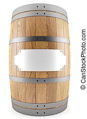 barril, etiqueta del vino