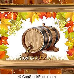 barril, madeira, vinho
