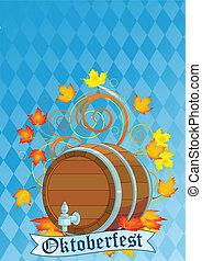 barril, oktoberfest, desenho