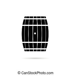 barril, pretas, ilustração