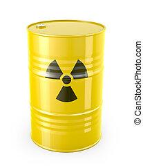 barril, radioactivo, símbolo