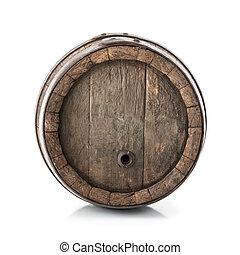barril, roble, viejo
