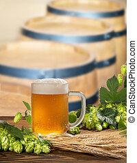 barriles, cerveza