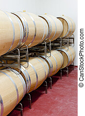 barrique barrels en winery