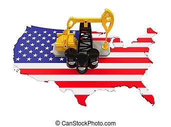 barris, bomba, óleo, eua