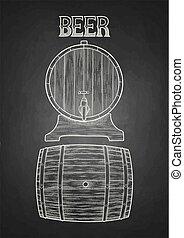 barris, cerveja, gráfico