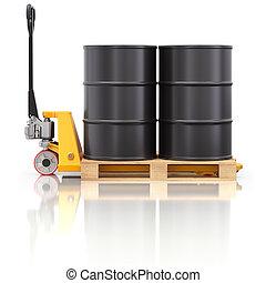 barris, madeira, óleo, macaco, pallet
