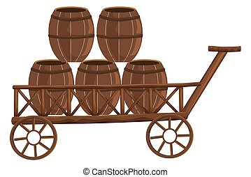 barris, madeira, cinco, vagão