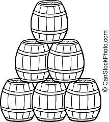 barris, montão, caricatura, ilustração