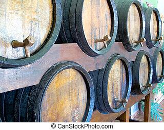 barris, pronto, degustação vinho