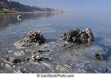 barro, mar muerto, mineral