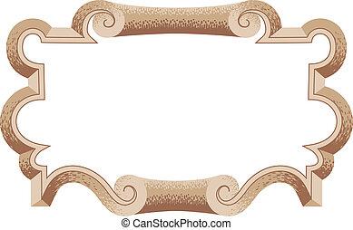 barroco, arquitetônico, ornamental, decorativo, quadro