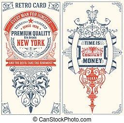 barroco, cartões, set.