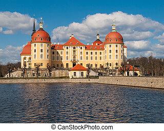 barroco, castillo, de, moritzburg, en, alemania