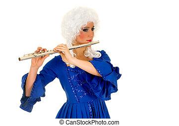 barroco, flautista