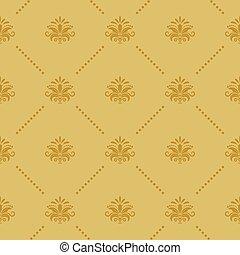 barroco, papel parede, seamless